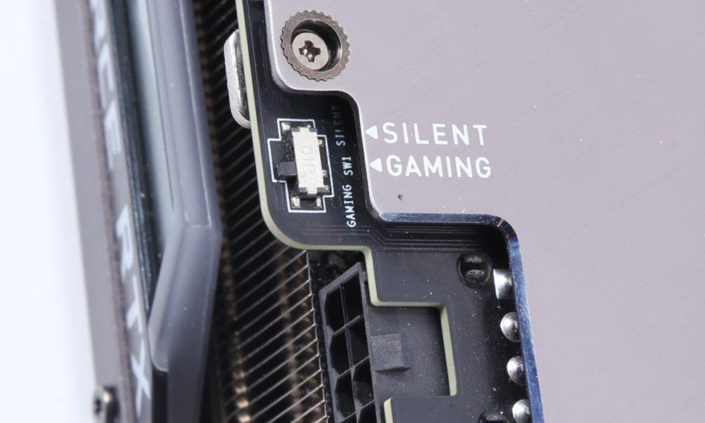 雙 BIOS 設計,分別為效能全開的遊戲模式以及低噪靜音模式。