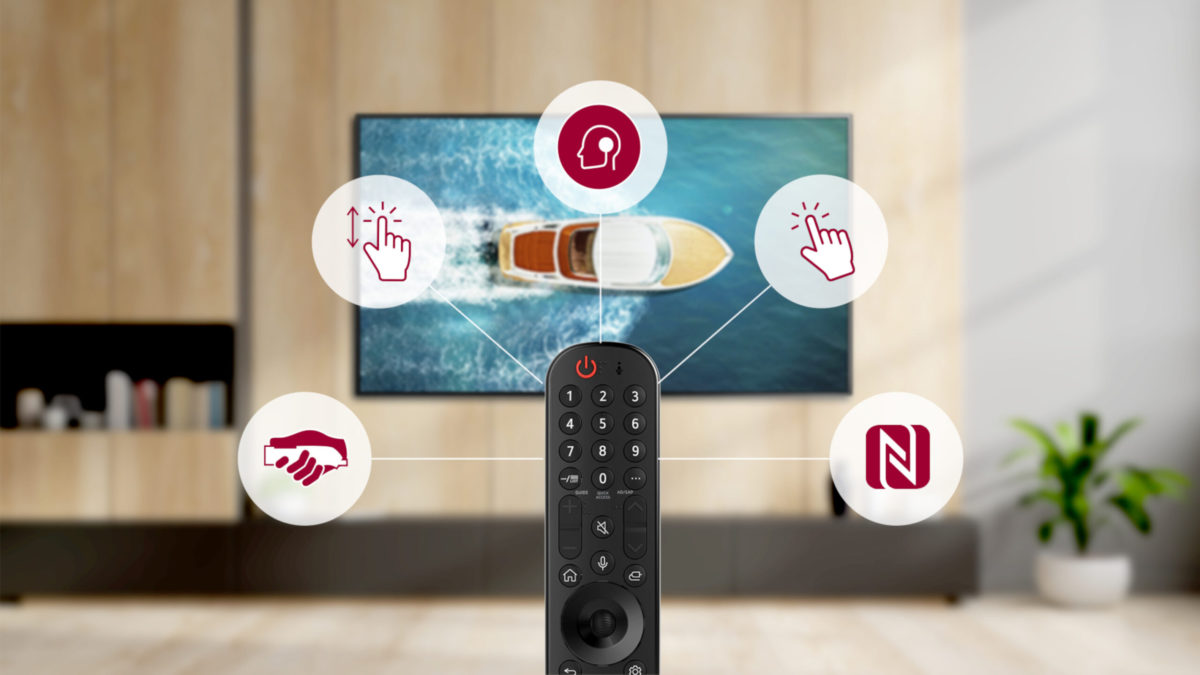 採用 webOS 電視平台的電視機將同時附有 LG Magic Motion 遙控器。