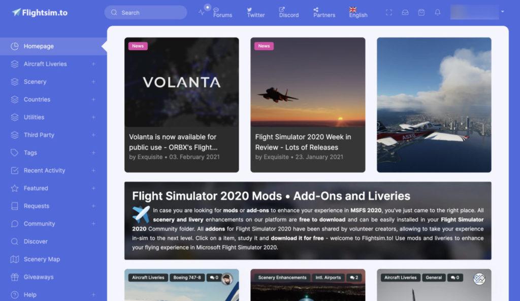Flightsim.to 收集了不少職人 Add-on ,註冊帳戶的話還會有更新提示。