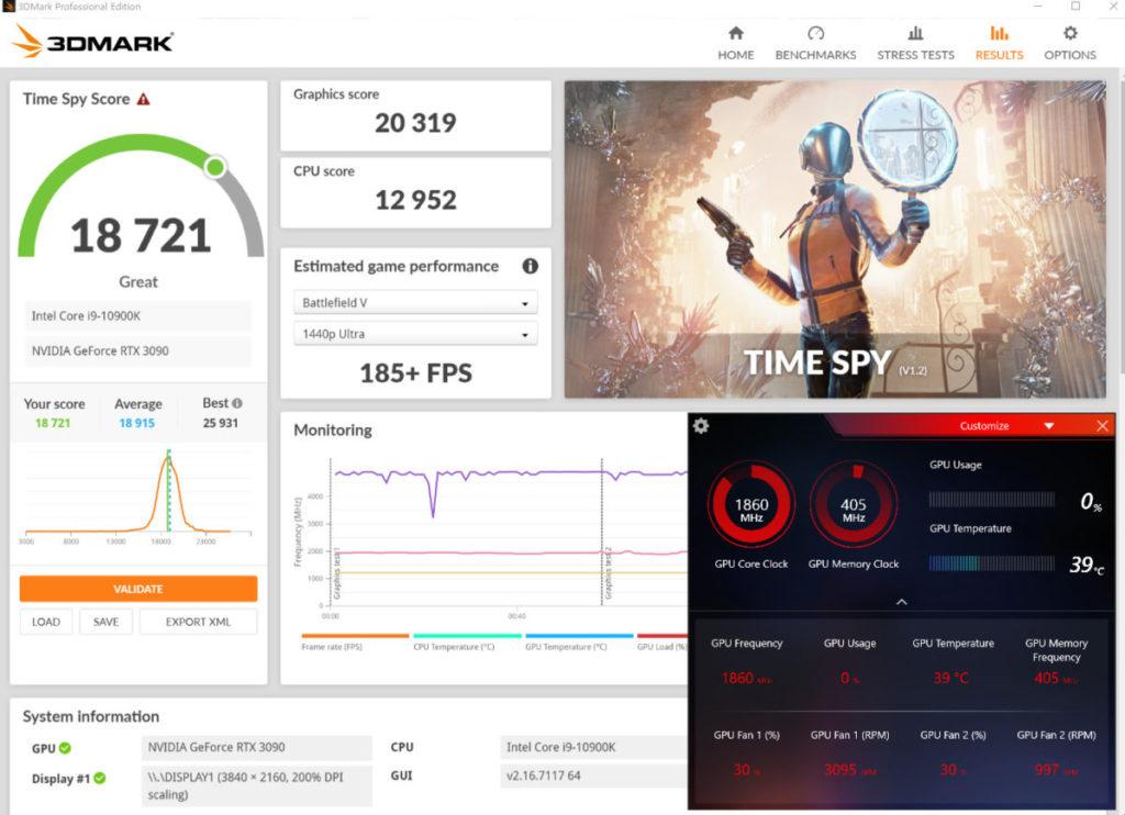 Gaming & Silent Mode 下 3D Mark Time Spy 性能