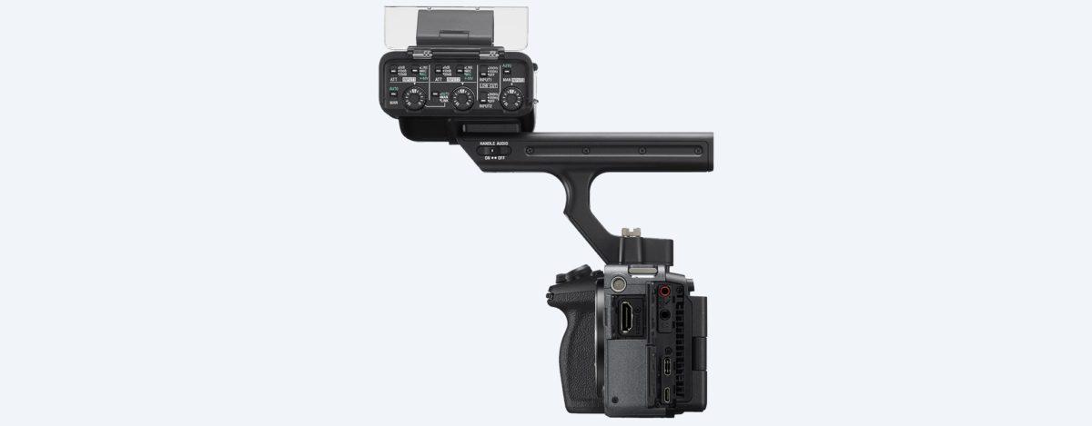 Sony FX3 左側配 XLR 手柄