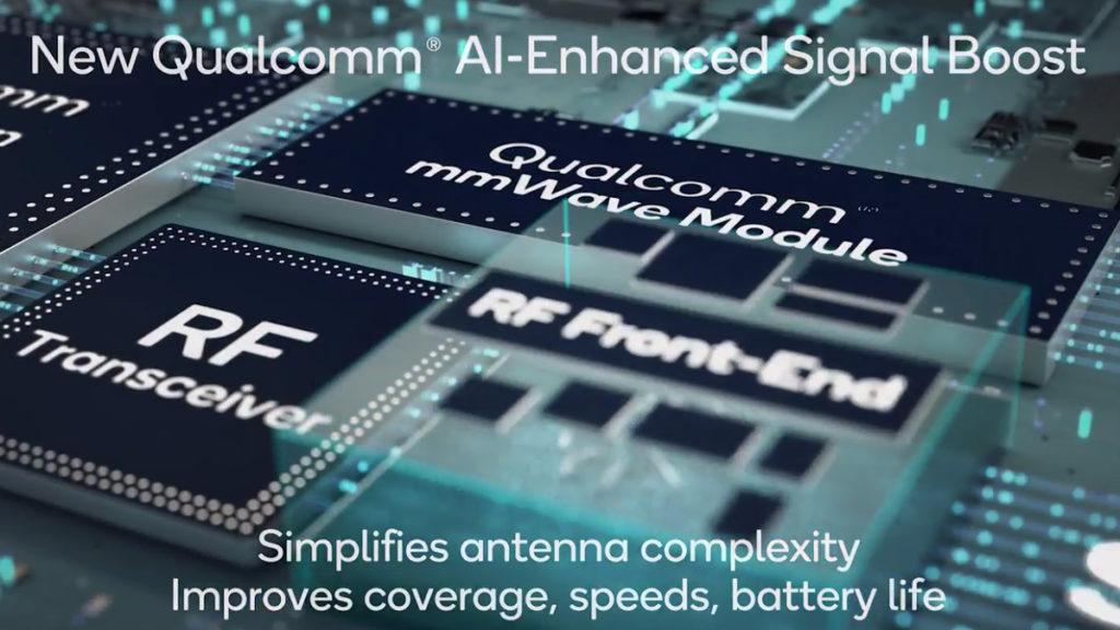 Snapdragon X65 5G Modem-RF System 擁有 AI 天線調節技術,並強調有更佳的載波聚合技術,因此理論最高下載速度可達 10Gbps 。