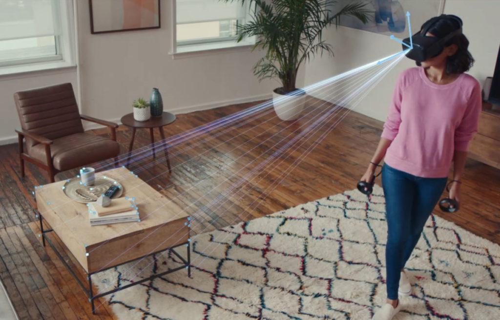 Inside-out 追踪透過眼罩上的鏡頭來感測周圍空間,成本較輕,容易安裝。