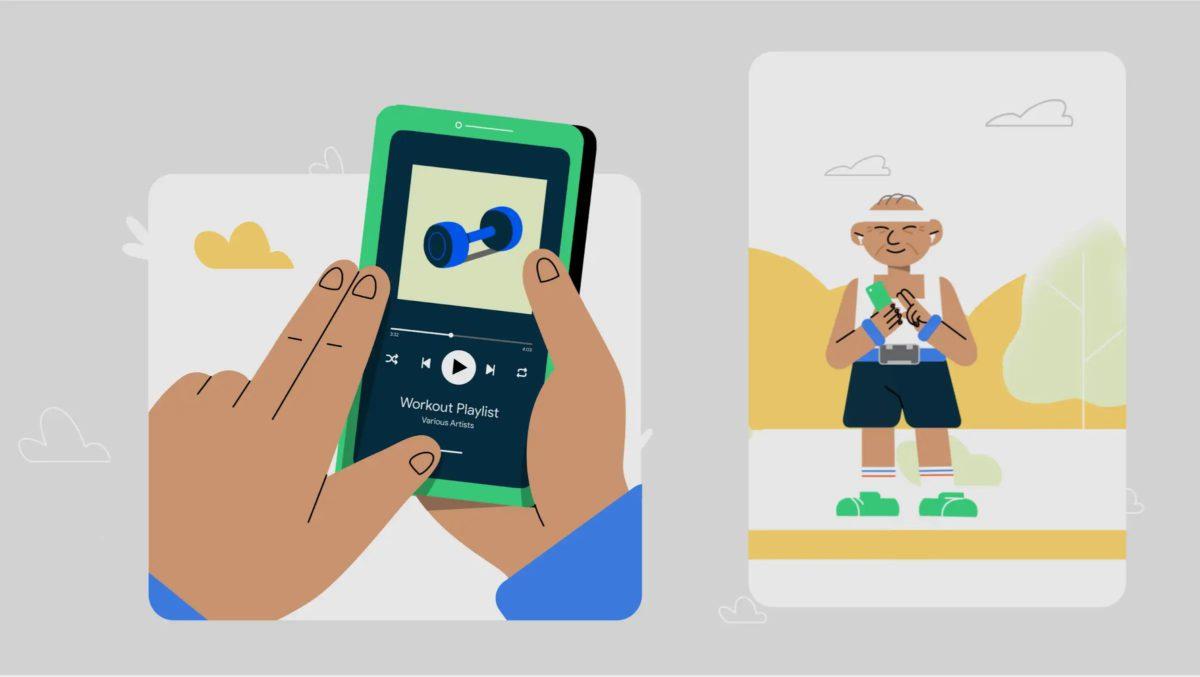 弱視人士可以更方便地透過手勢來控制 Talkback 功能讀出短訊或程式上的文字。