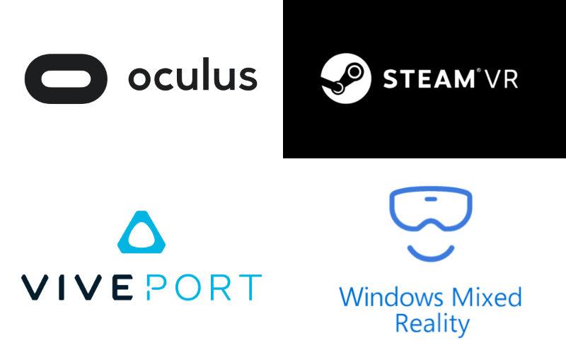 當今 4 大 VR 平台,當中有不少軟件共通,但亦有各自獨家的軟件。