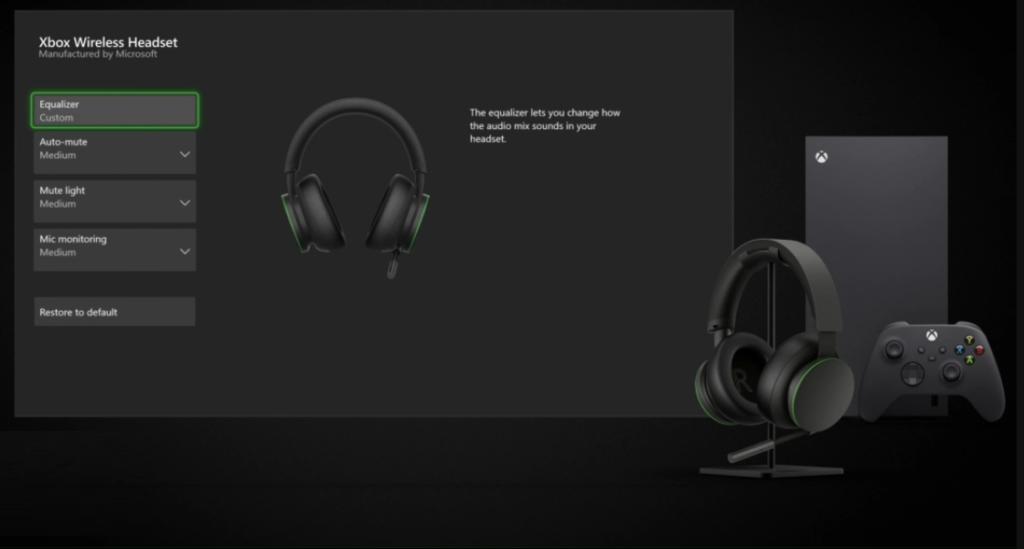 Wireless Headset 更針對 Xbox ,可透過主機內建軟件進行詳細的調節。