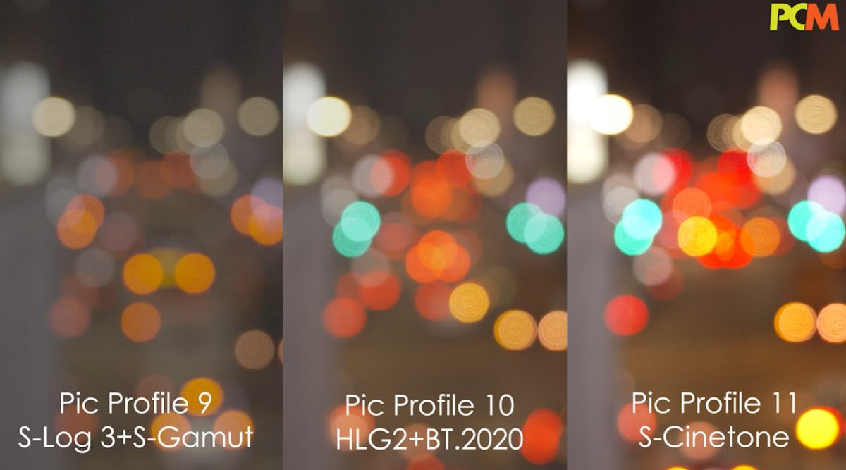 比較三種 Pic Profile , S-Cinetone 較明亮,最為貼近電影級色調。