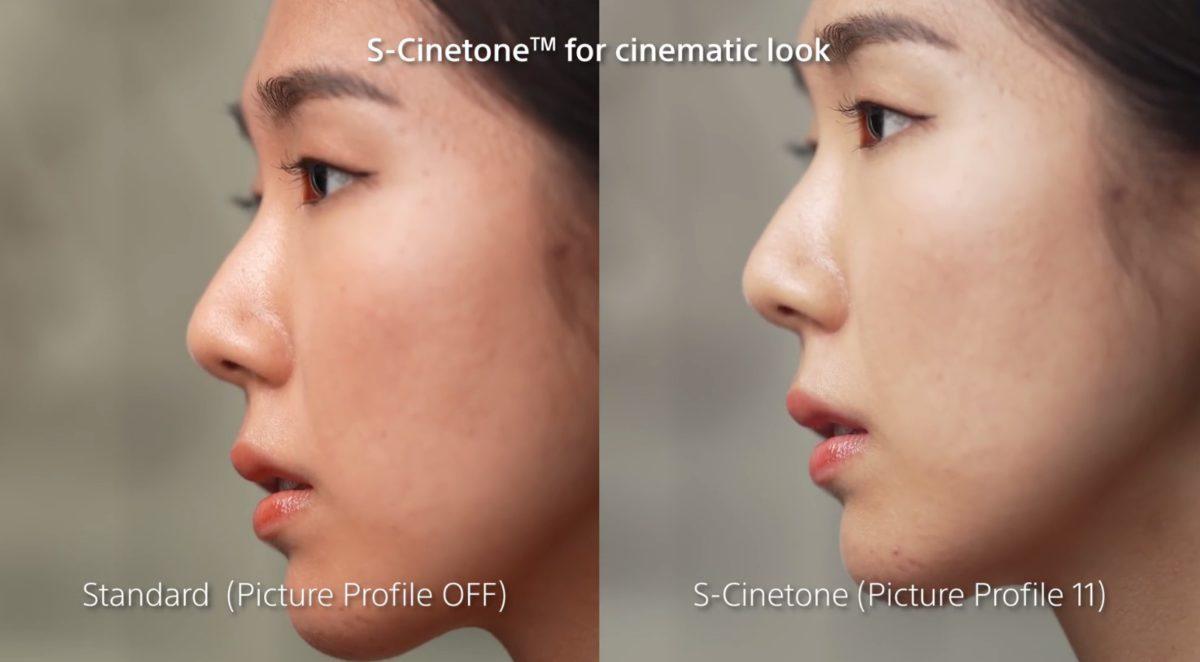 右: S-Cinetone ;左:預設色調 。使用 S-Cinetone 後的膚色明顯地比與預設中和,整體變得明亮起來。