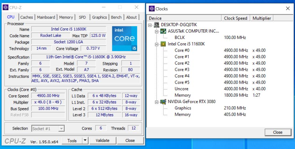 Core i5-11600K TDP 在 125W ,可輕易於 4.9GHz 高時脈下工作,測試效能未必輸給 Core i9-11900K 。