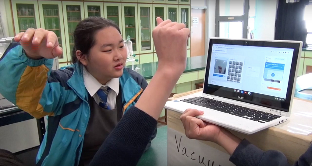 聖母書院學生製作手語AI模型。