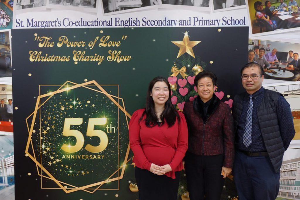 (左起)聖瑪加利男女英文中小學STEM教育統籌主任李靈心、總校長譚張潔凝和科技教育主任劉興業。