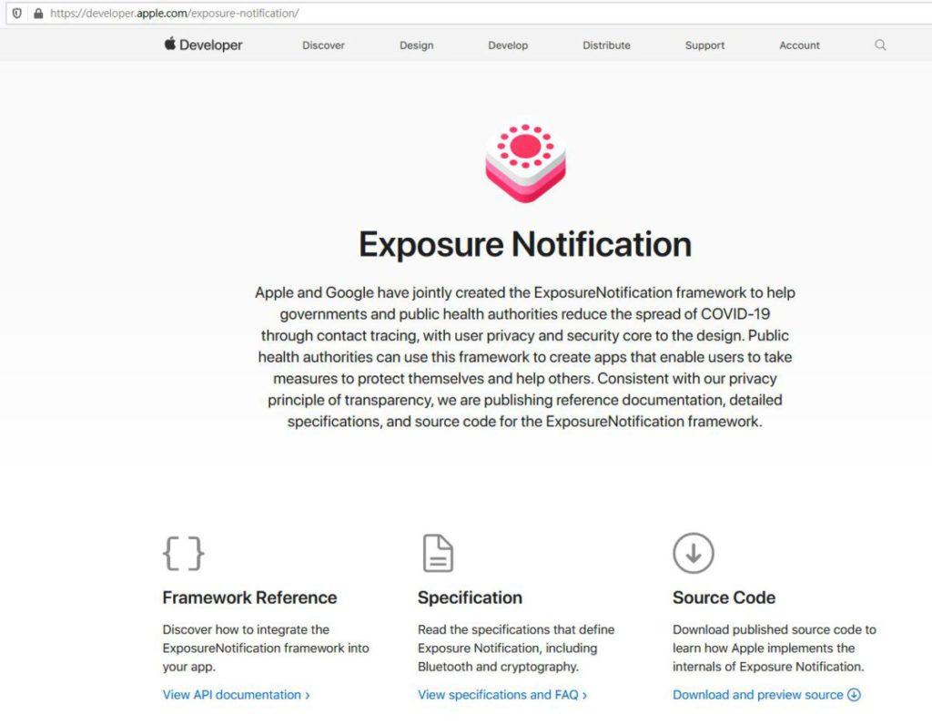 Exposure Notification由蘋果和Google主導,兩大網站均公開資訊,保持透明度以推廣防疫。