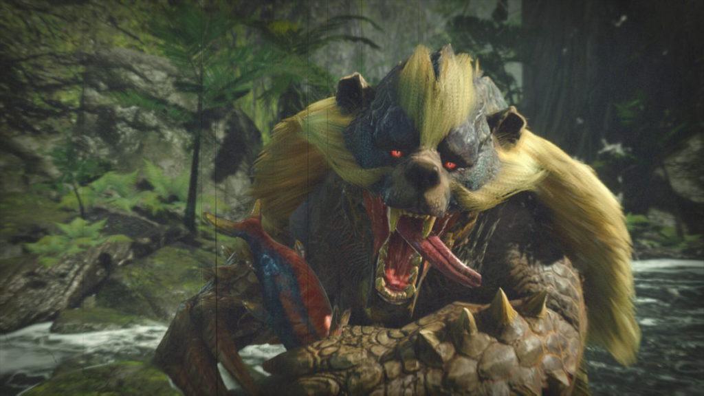 雖然出場動畫會吃魚,但其實以蜂蜜為主食的青熊獸。