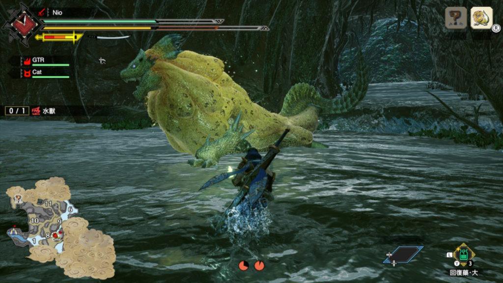 一直於有水的地圖戰鬥就會持續被泡沫攻擊。
