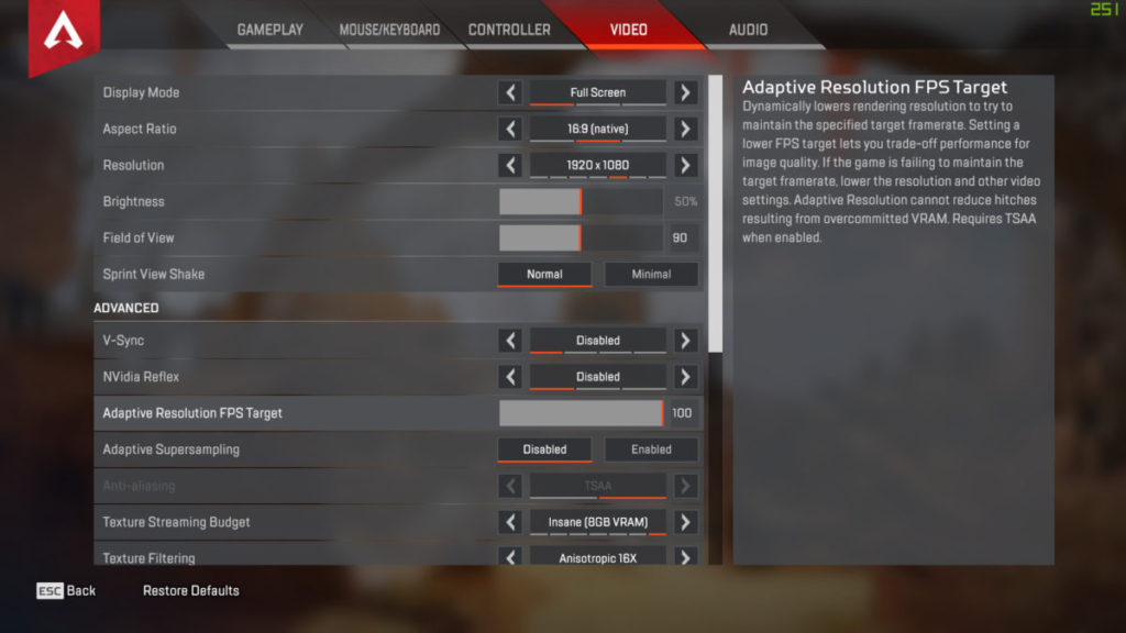《 Apex Legends 》有「 Adaptive Resolution FPS Target 」優化項目。按說明其工作原理與「 Radeon Boost 」描述十分相似。