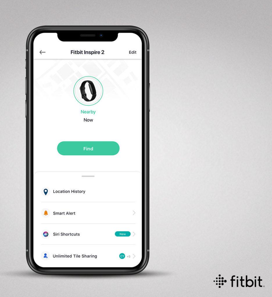 Fitbit 程式裡面加入 Tile 尋找裝置介面,方便用家找回 Inpire 2 運動手環。