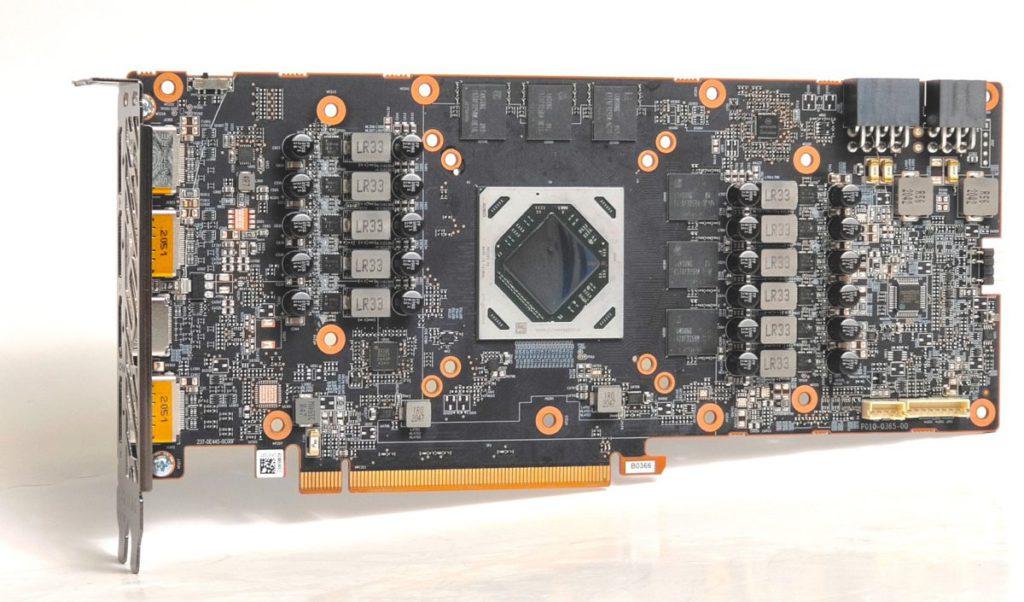 採用 10 層 2oz 銅 PCB 板,並有 7+2 相供電設計,配合的 DrMOS 晶片為 Vishay SiC649 60A