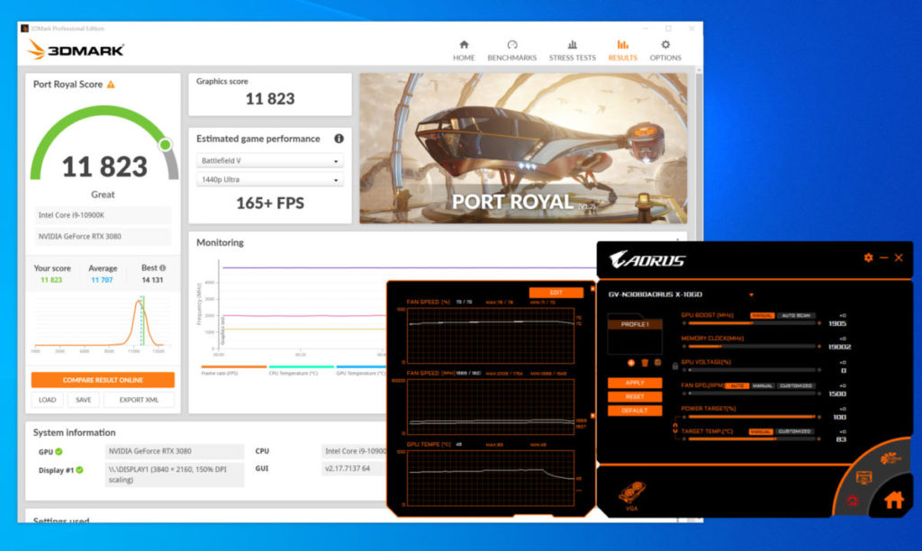 3D Mark Port Royal 光線追蹤測試成績