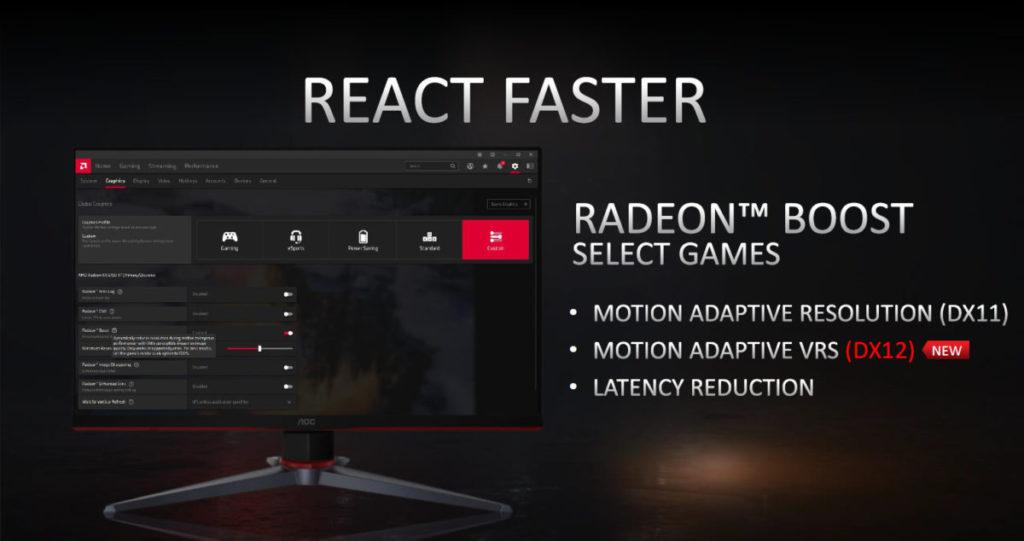 Radeon Boost 新增支援 DX12 VRS 功能