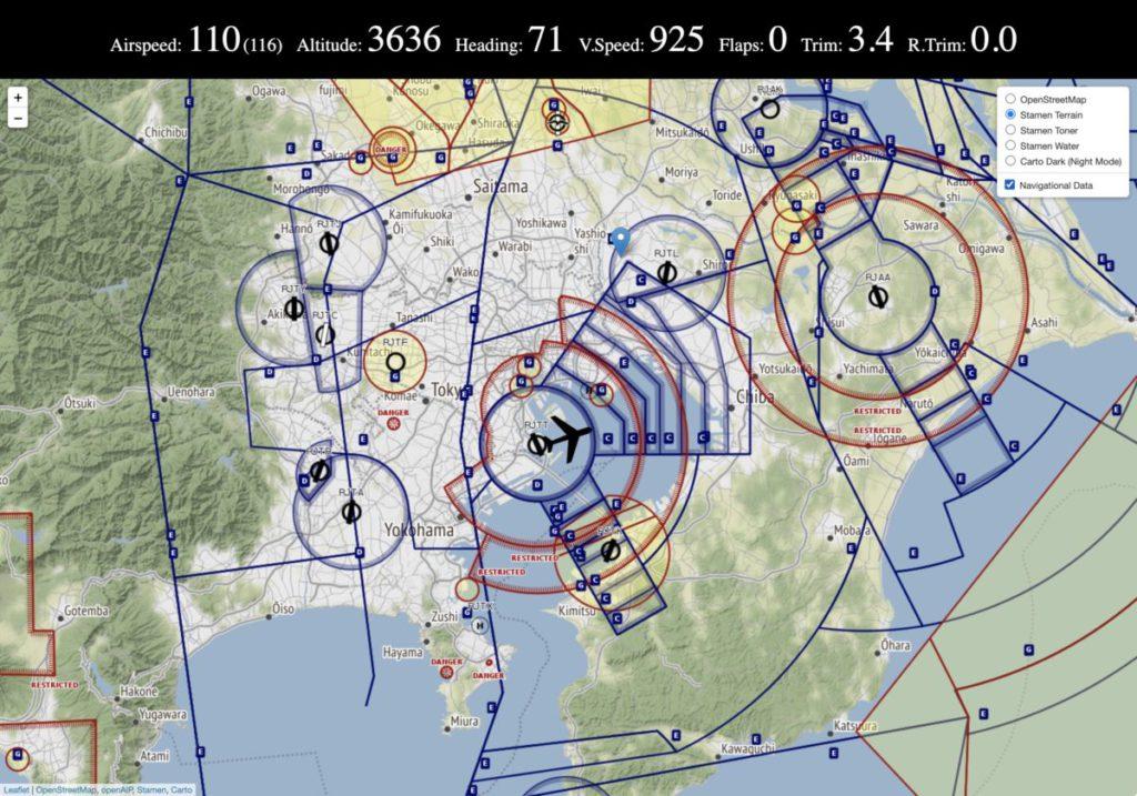《 VFRMap 》有多種樣式和導航資料圖層。