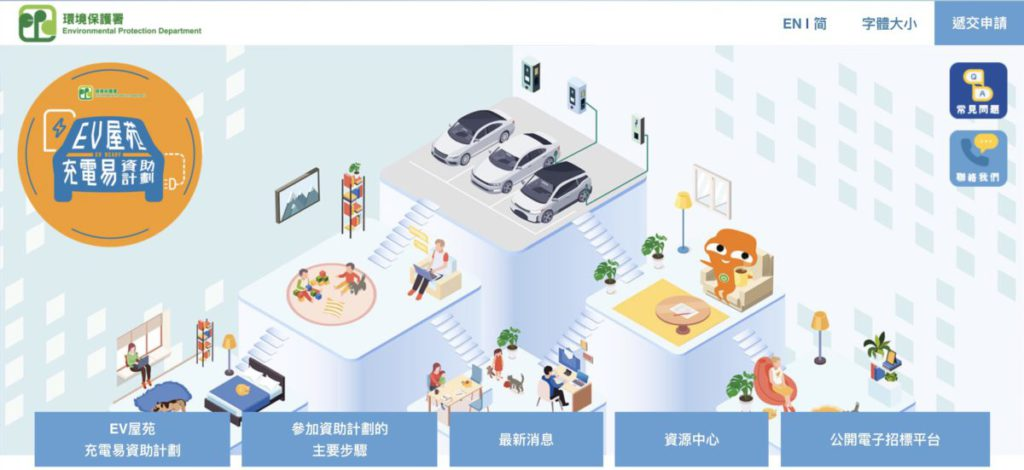 政府在去年推出 20 億「 EV 屋苑充電易資助計劃」,推出首 4 個月已收到超過 200 份申請,涉及 6 萬個車位。