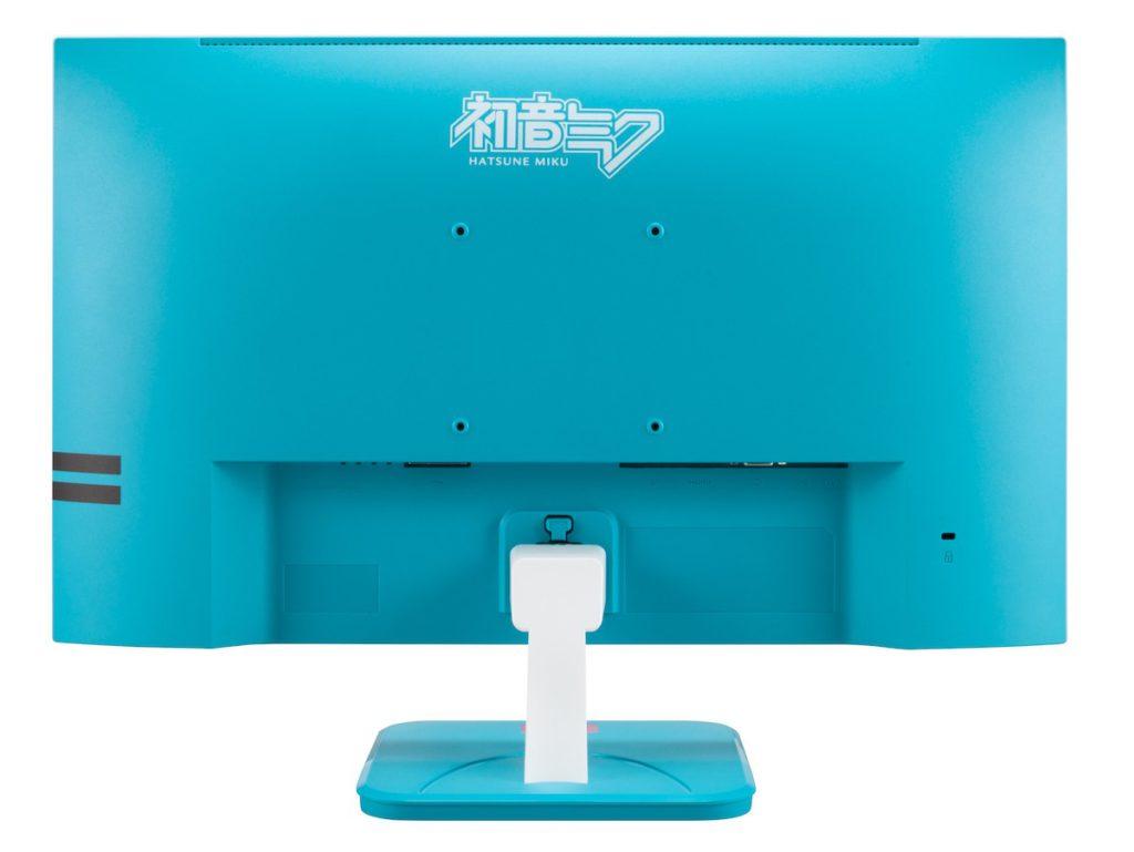 採用初音未來的藍綠髮色作主色調,配以白色和螢光紅,機背和底座都印有初音未來的標誌。