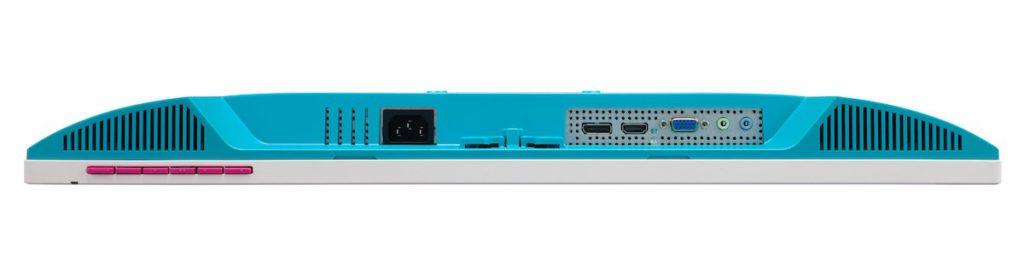 內置雙喇叭,備有 DisplayPort 、 HDMI 、 VGA 和 3.5mm 耳機插,連接富彈性。