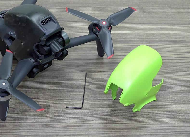 隨機附螢光綠頂殼以供更換,並提供工具裝拆。