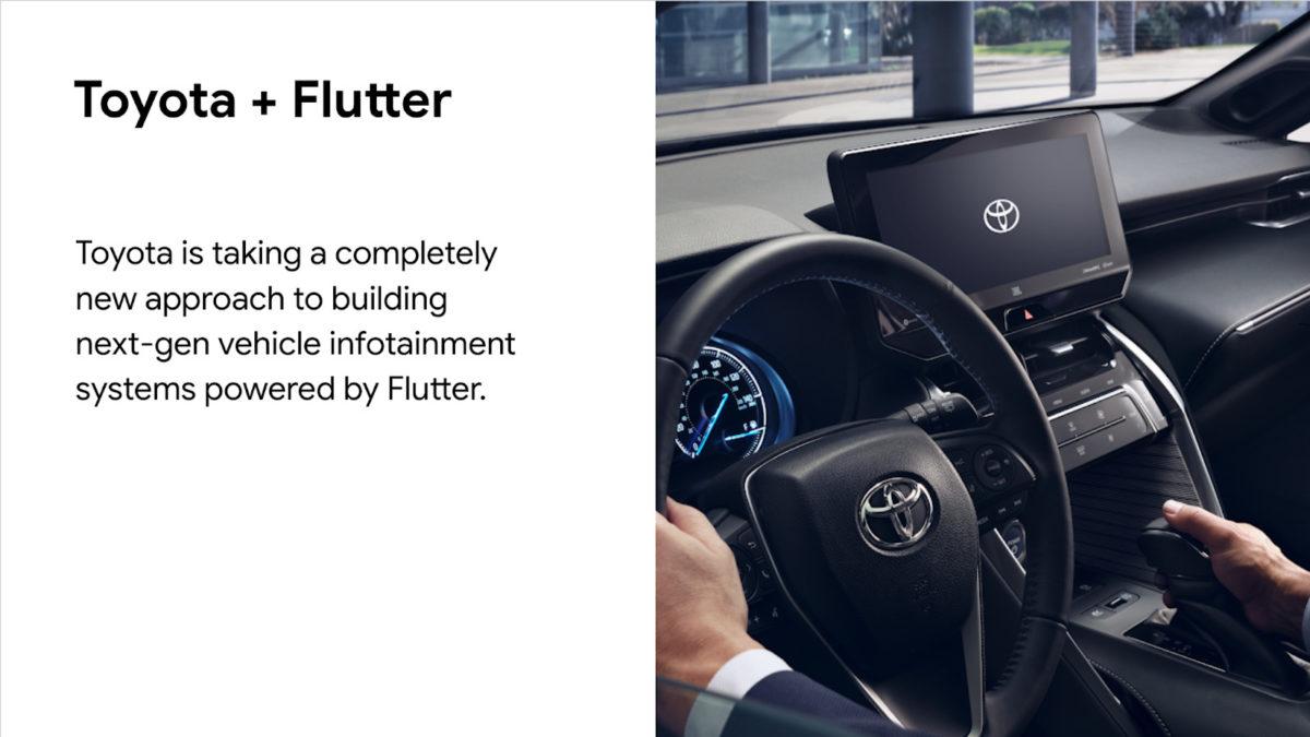 豐田亦表明會使用 Flutter 來開發新一代汽車資訊娛樂系統。