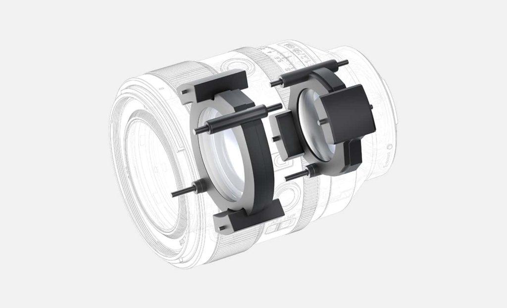 4 個 XD Liner 對焦馬達,驅動鏡頭內兩組浮動式鏡片對焦。