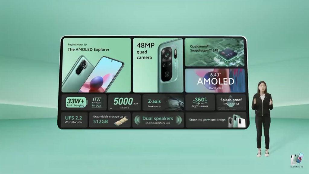 Redmi Note 10 採用 Snapdragon 678 處理器,有 4 + 64GB 或 4 + 128GB 兩個版本。
