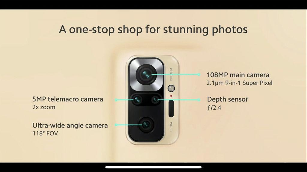 Redmi Note 10 Pro 最大賣點是內置 108MP 主鏡。