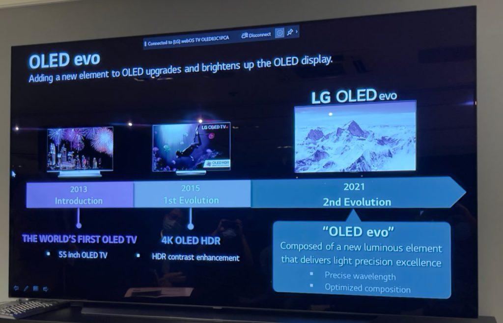 OLED電視屏幕已經有8 年歷史,第一次大型改革是2015年加入HDR支援,今年是第二次改變 OLED顯示技術。