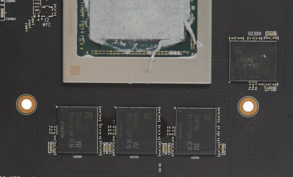 Samsung 16Gbps GDDR6 記憶體顆粒