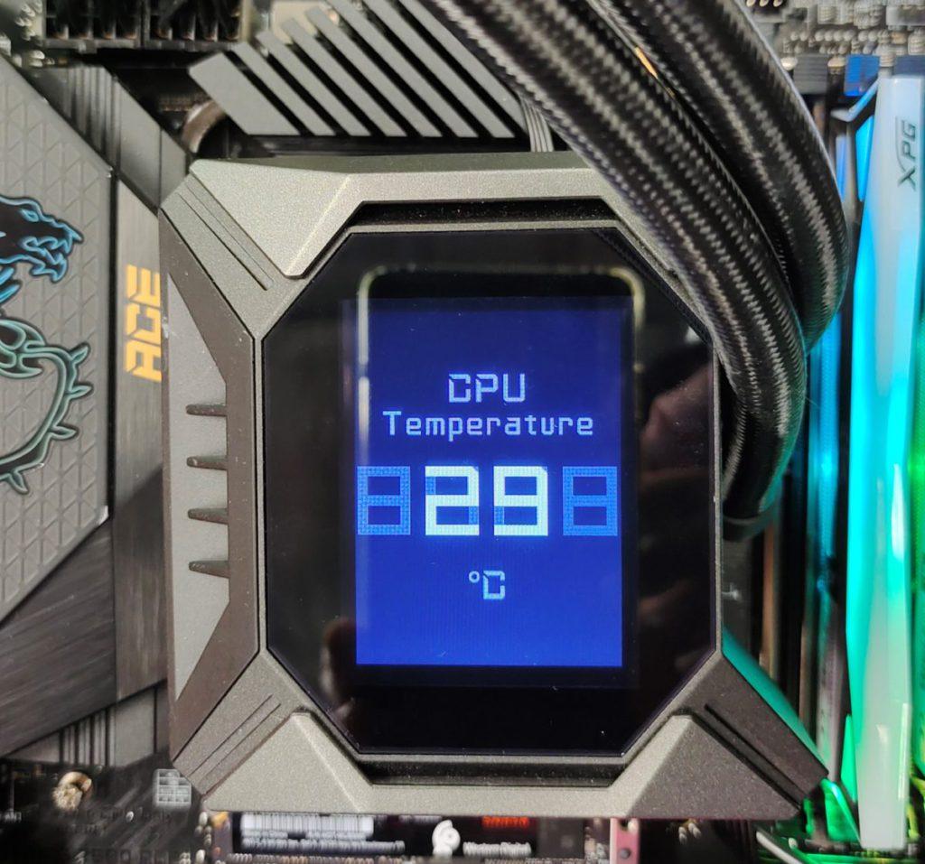 水冷預設顯示 CPU 工作溫度