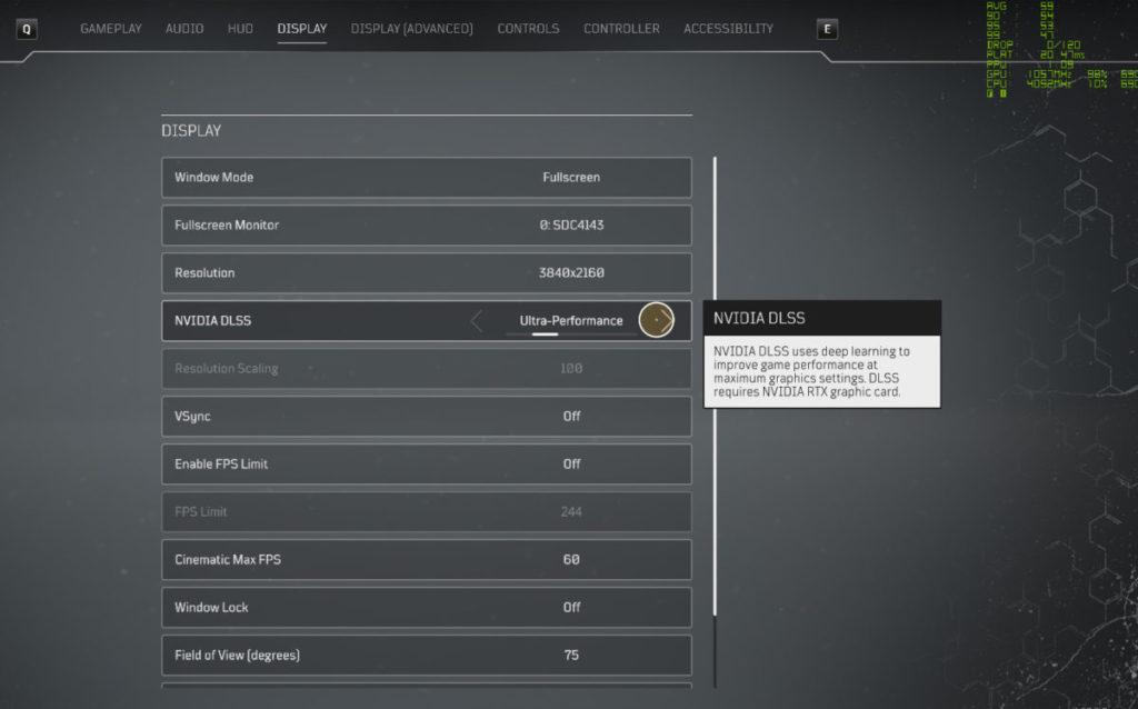 在《 Outriders 》4K 設定使用 NVIDIA DLSS: Ultra Performance 的設定,可獲得流暢的畫面。
