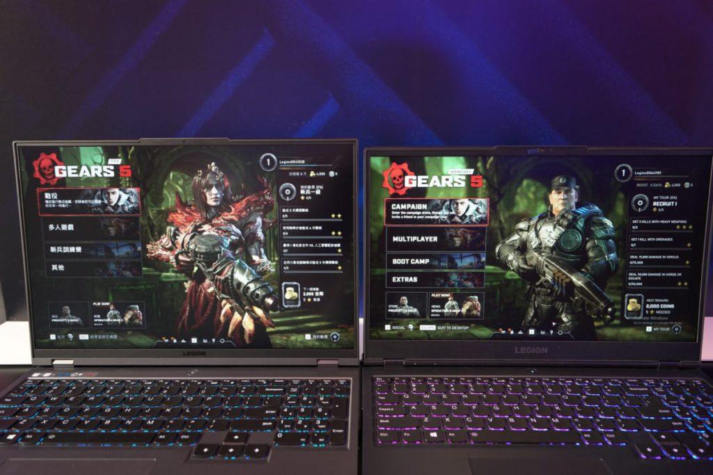 Legion 5 Pro (左)的 16:10 屏幕與 16:9 的主機(右)比較一下。
