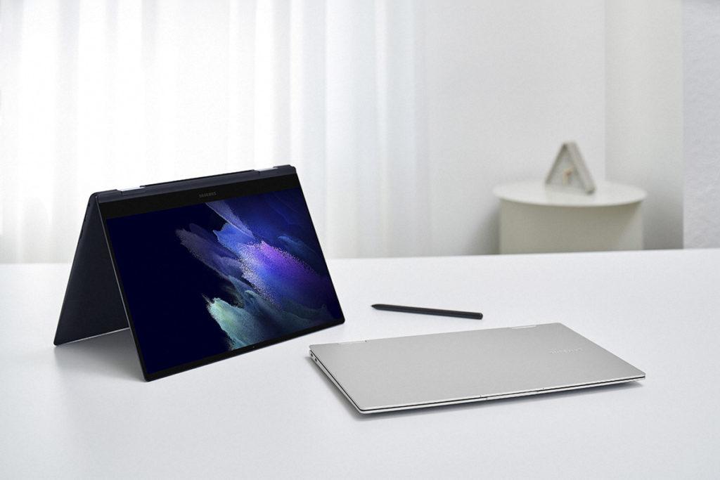 Galaxy Book Pro 360 系列是 Galaxy Book Pro 可翻轉屏幕的版本,不過由於加入了翻芒功能,因此機身略重, 13.3 吋為 1.04kg 。