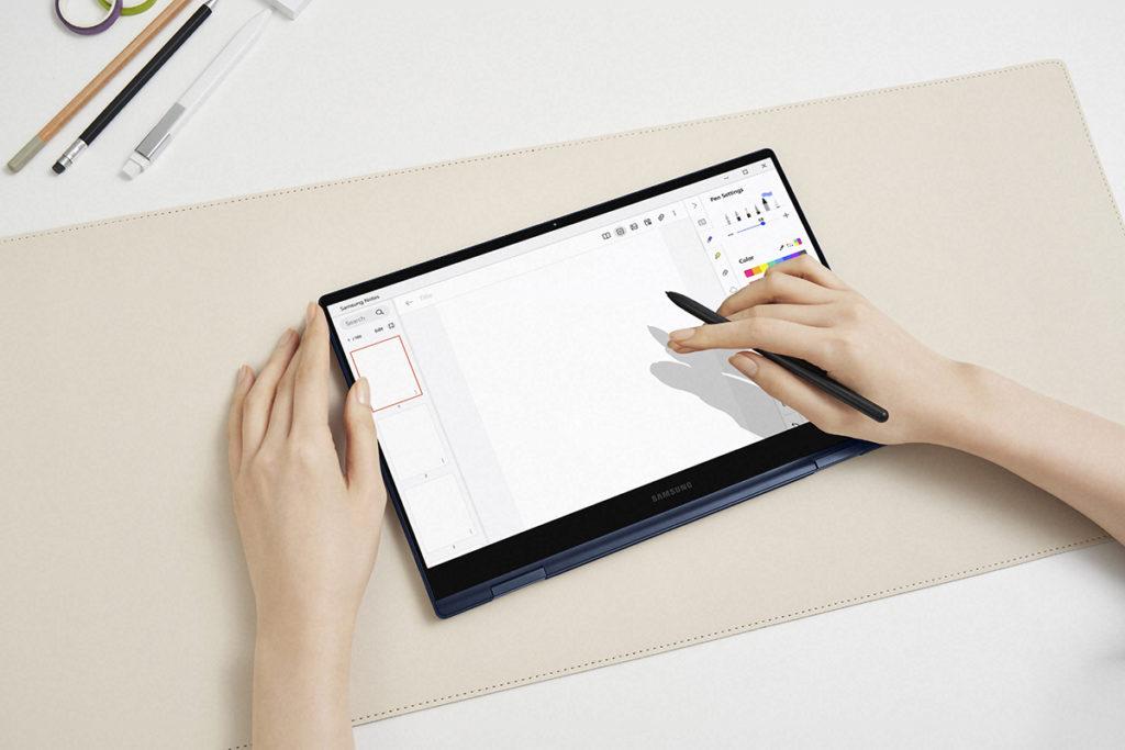 Galaxy Book Pro 360 支援 S Pen,而這支 S Pen 外觀上與現時Galaxy Tab S7 用的款式類似,書寫手感更佳。