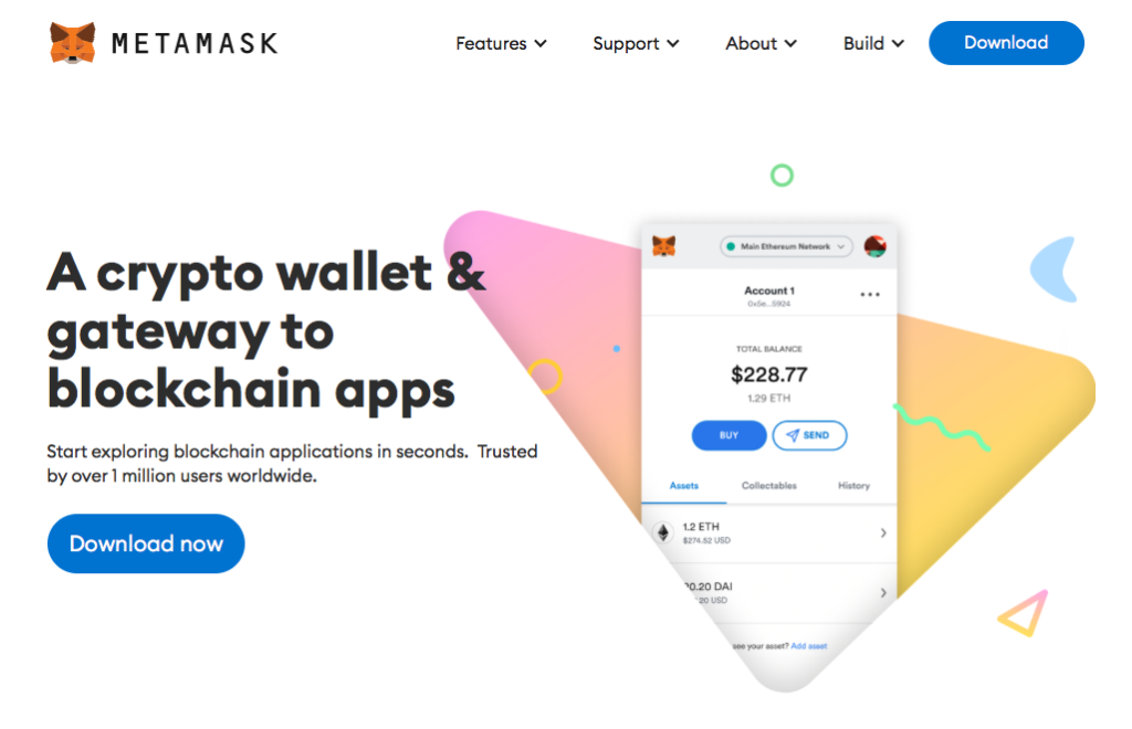 Cryptocurrency wallet 方面他選擇使用 MetaMask ,相對較簡單易入手,可以在 Chrome 上 setup 。
