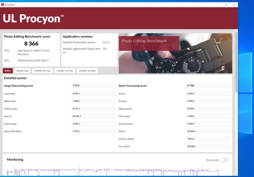 UL Procyon Photo Editing Benchmark 測試成績顯示 Gen4 與 Gen3 的效能分別著實不大。