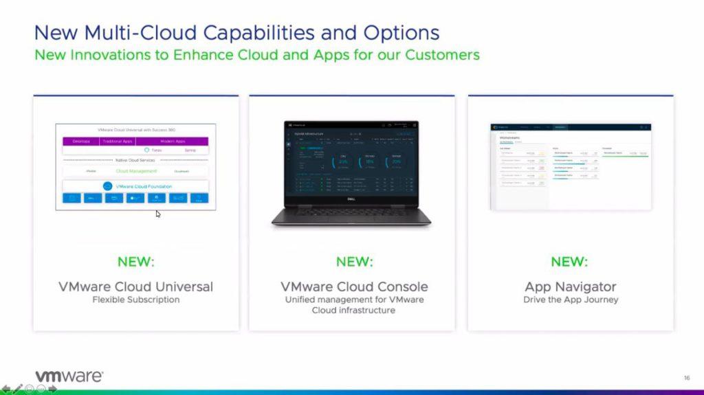 三項新服務以 VMware Cloud Universal 為主,單一平台購買點數,採購其他雲端服務。