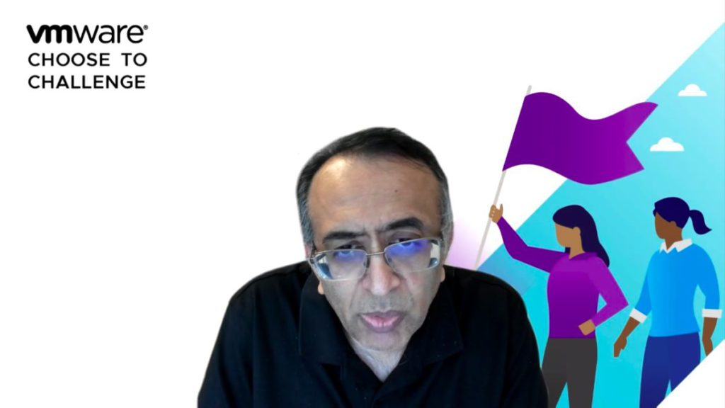 Raghu Raghuram 在視像會議發表新產品時表示,企業轉用訂閱服務,方便採購不同雲端的基建支援數碼轉型。