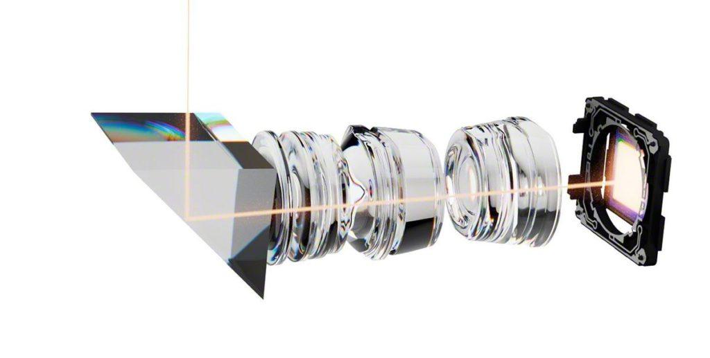 透過加入可調鏡片位置功能,令潛望式鏡頭搭載了 70mm 及 105mm 兩個焦段。