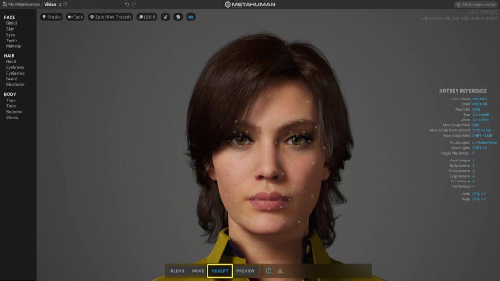 用戶可以對角色進行仔細的調整。