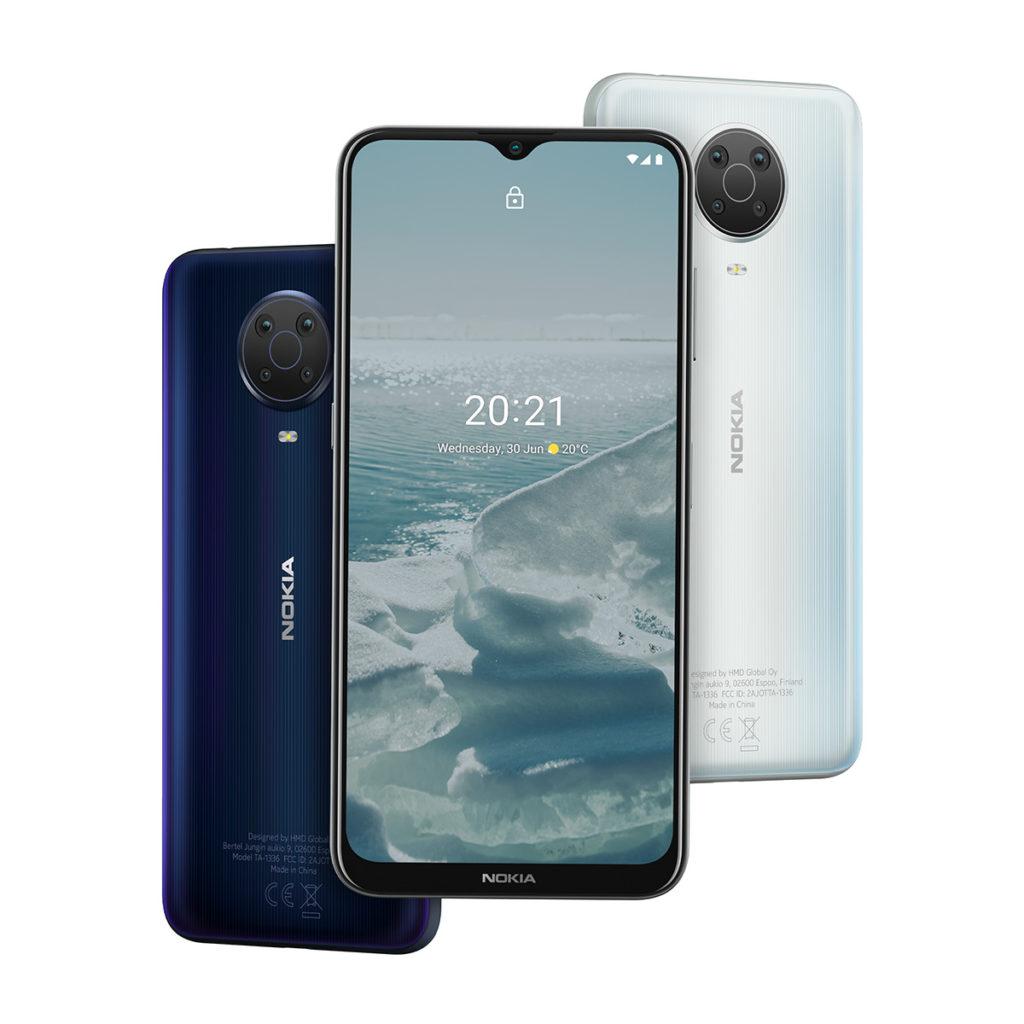Nokia G20 是三個系列中的「中階」機款,用上MTK G35 處理器,四鏡頭系列採用48MP主鏡。