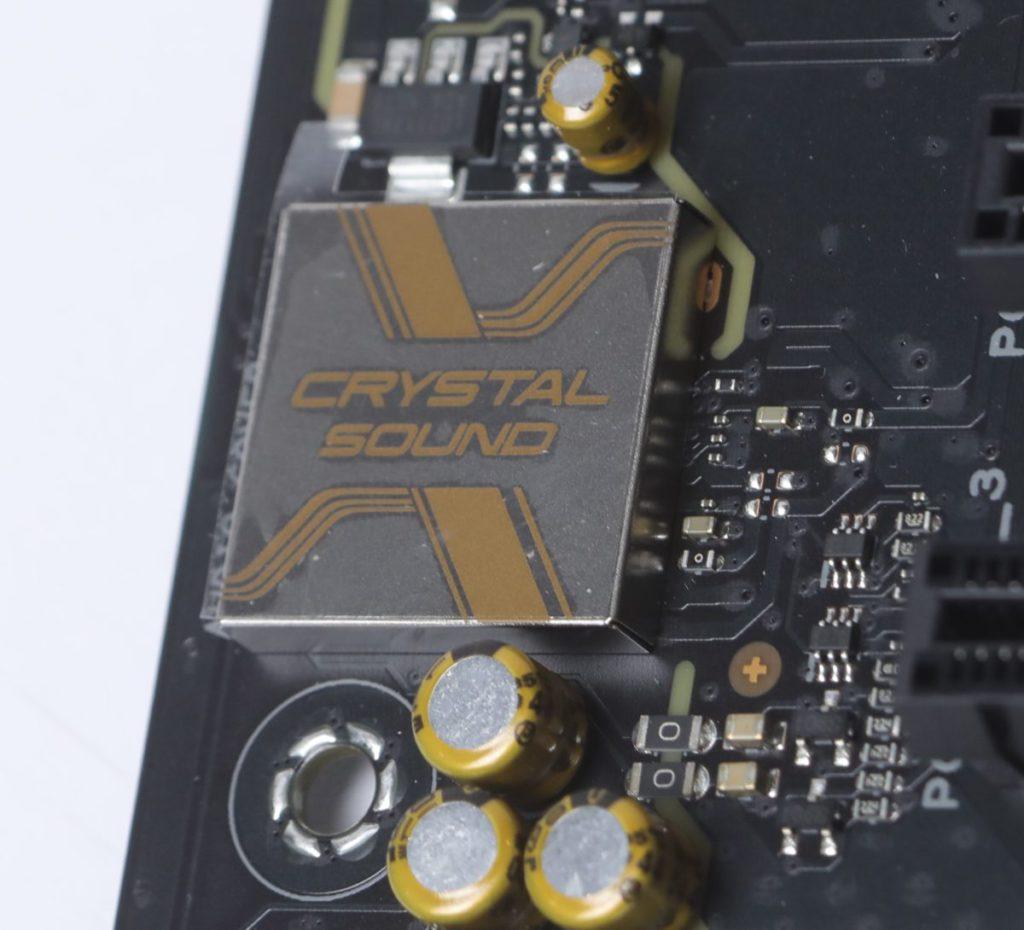 作為Content Creator用板,對於音效功能也給予一定重視,所用為Crystal Sound音效晶片。