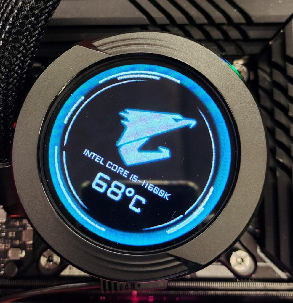 筆者以 《 3D Mark Time Spy 》 測試, Core i5-11600K 的工作溫度為 68℃ 左右,表現可以。