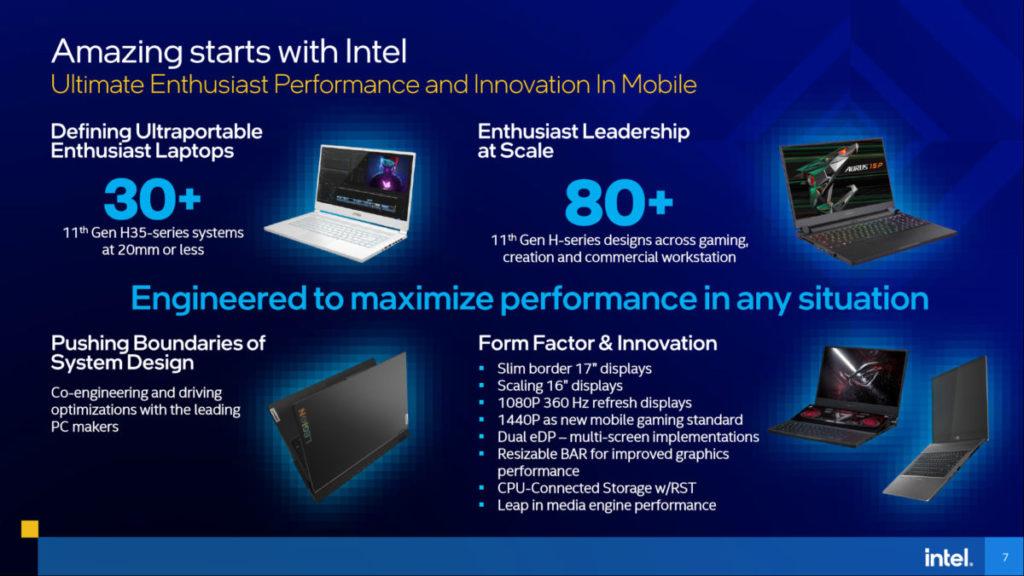 發佈當天已完成 80 款以上的筆電產品設計,較目前 H35 的 30 款以上為多。