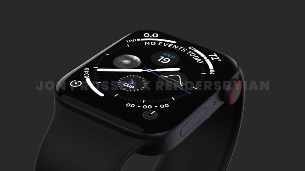 傳聞 Apple Watch Series 7 會採用平面屏幕配直邊框,同時會加大尺寸至 41mm 和 45mm 。